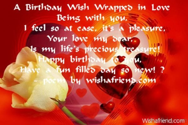 A Birthday Wish Wrapped In Love Being With You