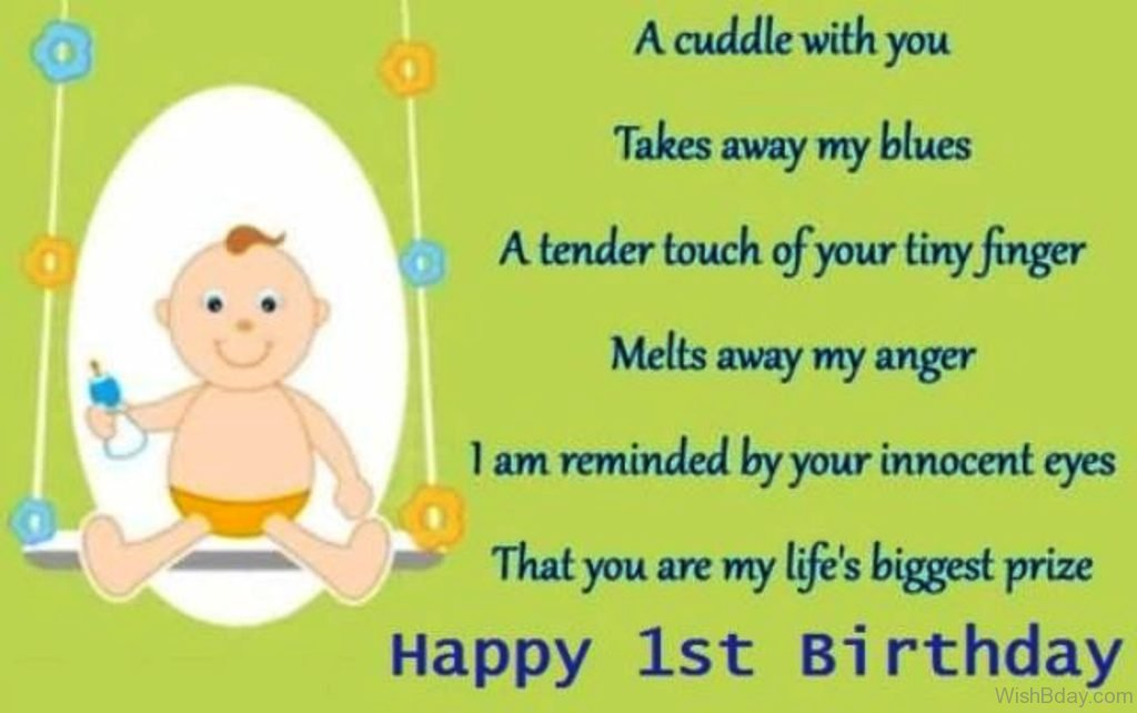 33 Birthday Wishes For One Year Old – 1st Birthday Greetings for Baby Boy