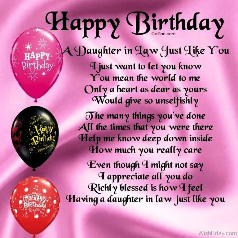 44 Birthday Wishes For Daughter In Law