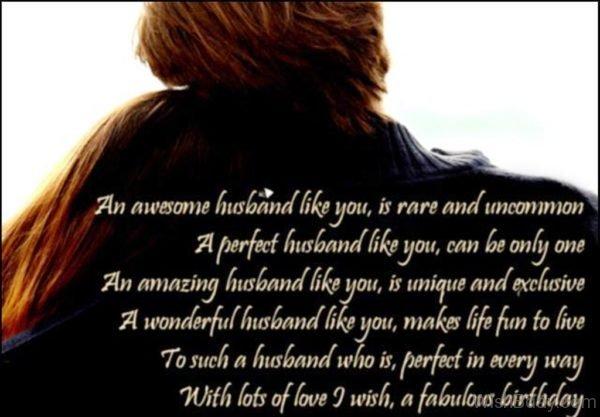 An Awesome Husband Like You
