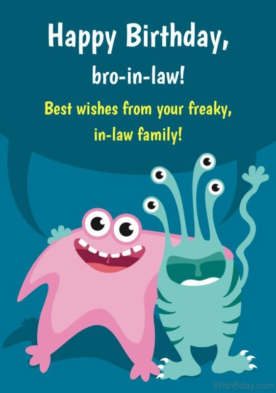 Best Wishes From Your Freaky in Law Family