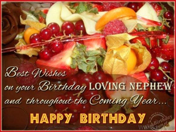 Best Wishes On Your Birthday Loving Nephew