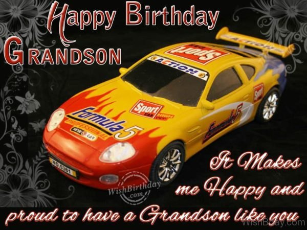 Best Wishes To Dear Grandson From Grandparents