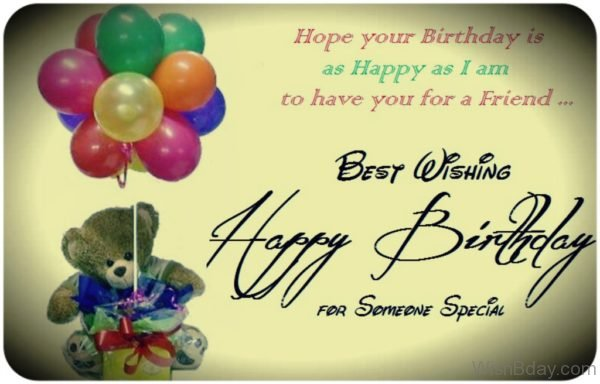Best Wishing Happy Birthday For Someone Special