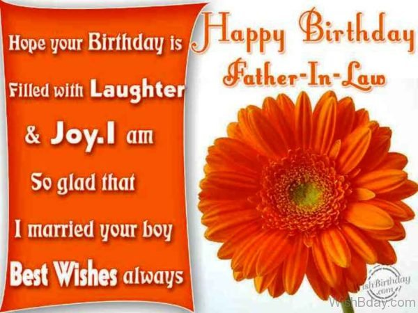 Birthday Wish To Father In Law From Daughter In Law