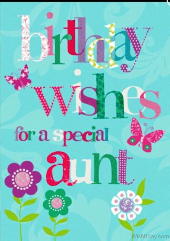 Birthday Wishes For A Special Aunt