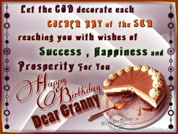Birthday Wishes For Dearest Grandma