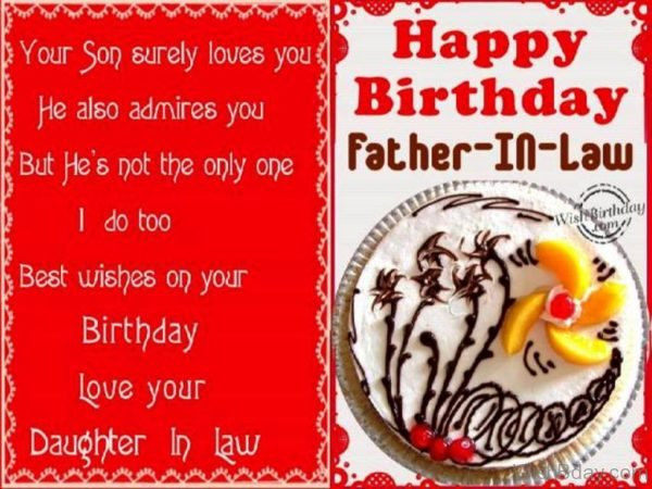 Birthday Wishes To Father In Law From Daughter In Law