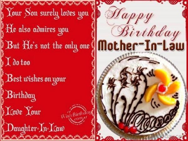 Birthday Wishes To Mother in law From Daughter in law