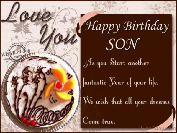 Birthday Wishes To Son From Parents