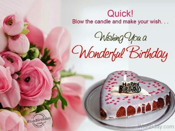 Blow The Candle And Make Your Wish…