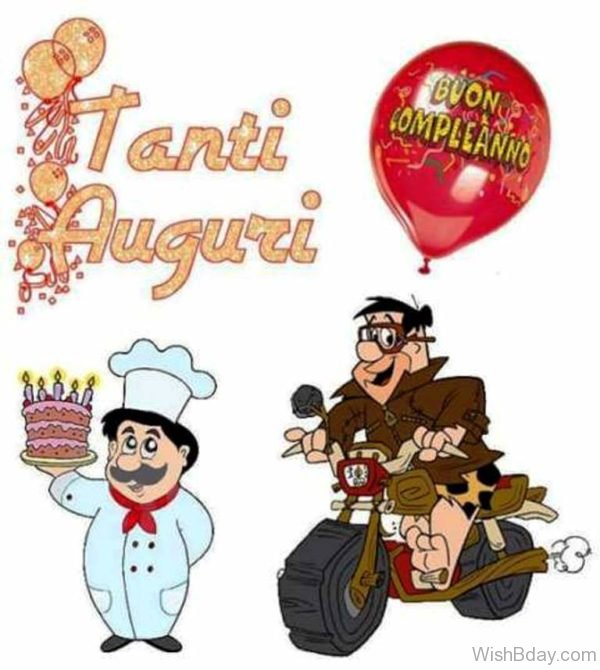 Buon Compleanno With Balloon