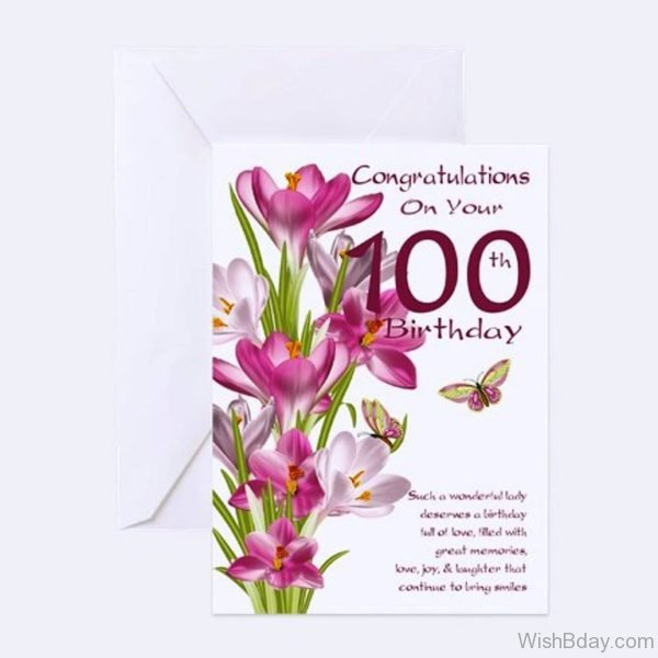 Congratulation On Your Hundred Birthday