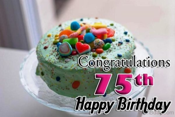 Congratulation Seventy Fifth Birthday