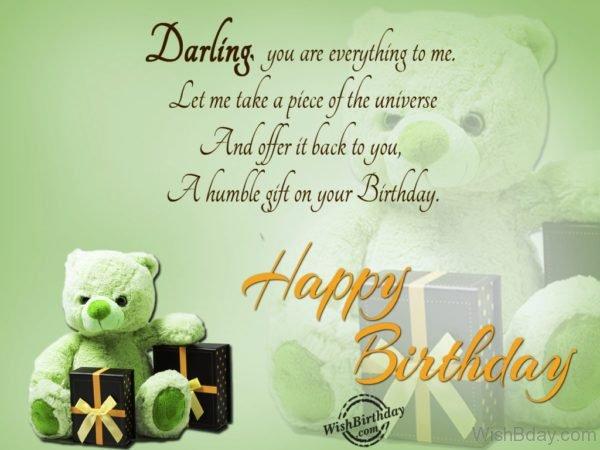 Darling Happy Birthday