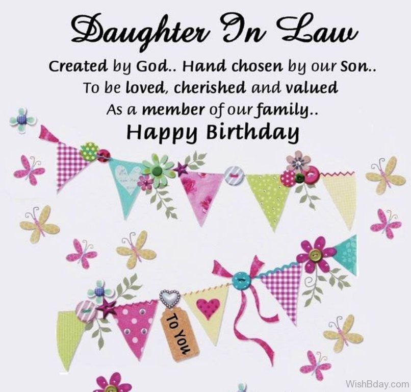 44 birthday wishes for daughter in law daughter in law created by god 1 m4hsunfo