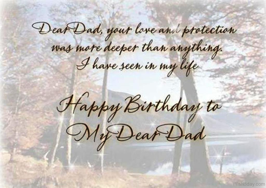 Female 70th Birthday Greeting Card Dear Dad Your Love And Protection Was More Deeper Than Anything