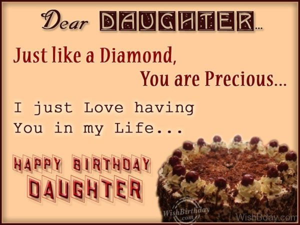 Dear Daughter Just Like A Diamond