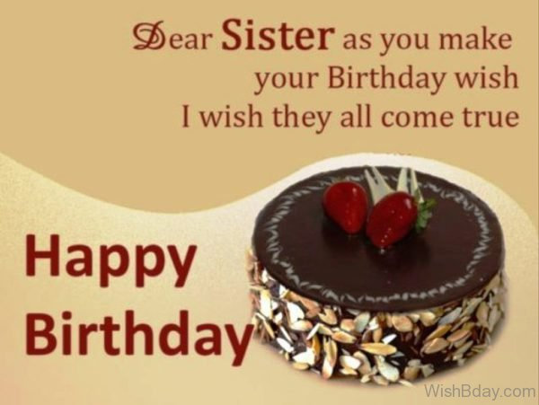 Dear Sister As You Make Your Birthday Wish
