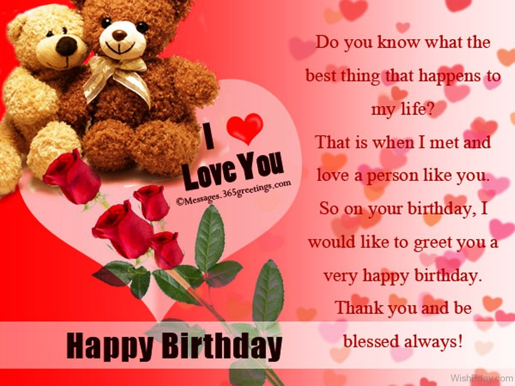 52 birthday wishes for wife do you know the best thing that happens to my life kristyandbryce Choice Image