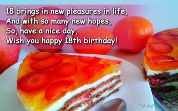 Eighteen Brings In New Pleasure In Life