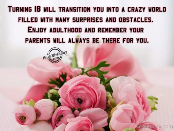 Enjoy Adulthood And Remember Your Parents