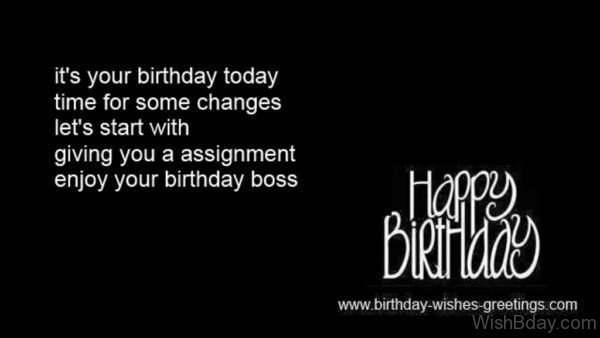 Enjoy Your Birthday Boss