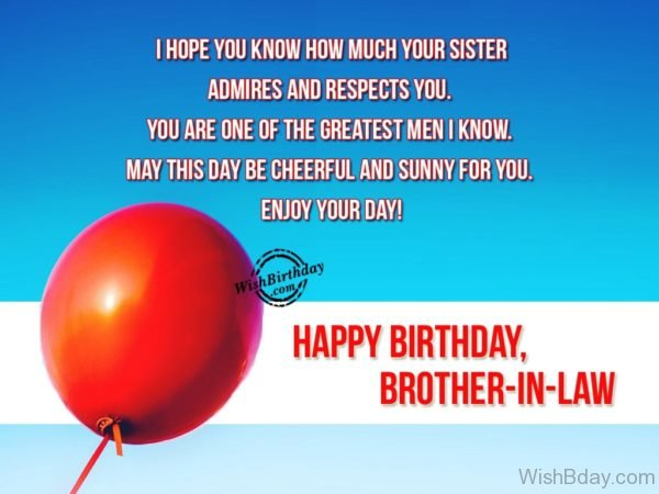Enjoy Your Day – Happy Birthday Brother In Law
