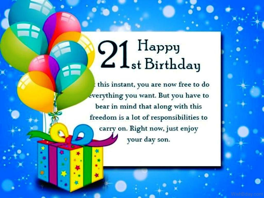 36 21st Birthday Wishes – 21st Birthday Cards Messages