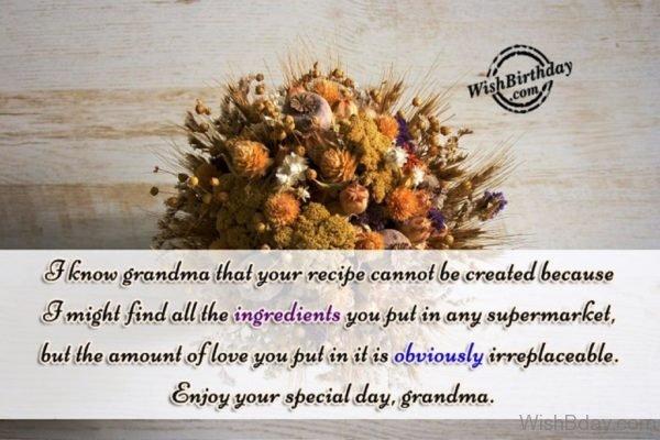 Enjoy Your Special Day Grandma