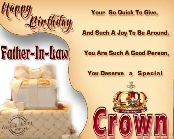Father in law You Deserve A Special Crown