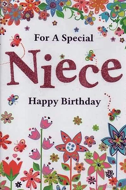 For A Special Niece Happy Birthday