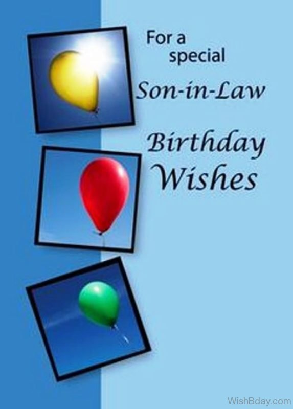 For A Special Son In Law Birthday Wishes