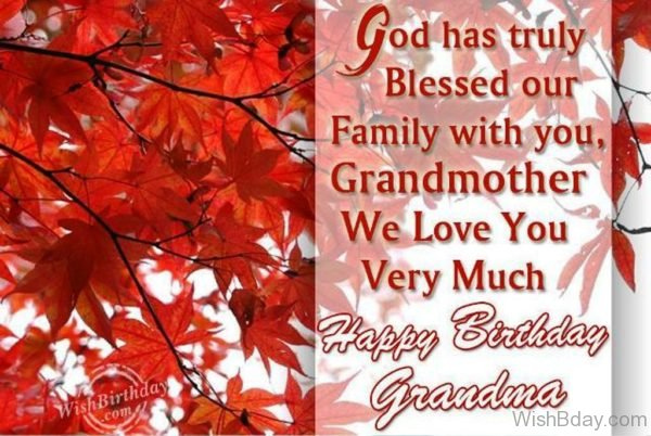God Has Blessed Our Family With You Dear Grandmother