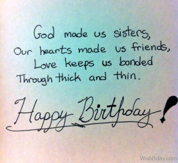 God Made Us Sister