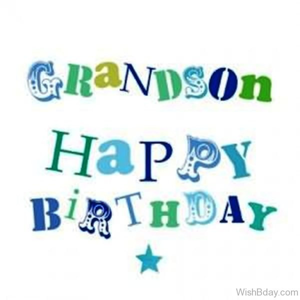 Grandson Happy Birthday