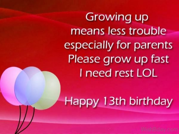 Growing Up Means Less Trouble Especially For Parents