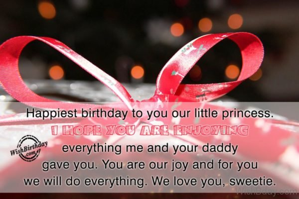 Happiest Birthday To You Our Little Princess