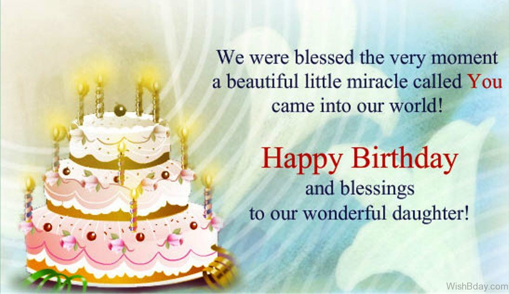 69 Birthday Wishes For Daughter – Birthday Greetings Religious Message