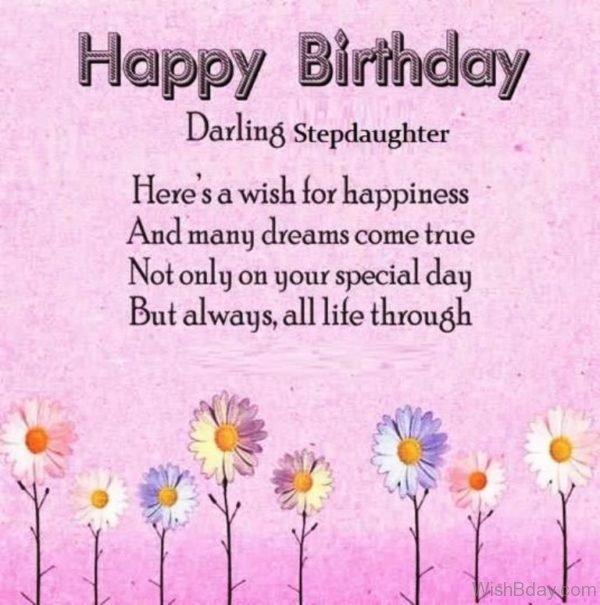 Happy Birthday Darling Step Daughter