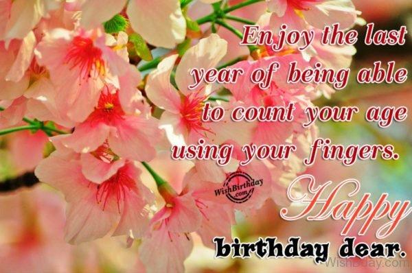 Happy Birthday Dear 20