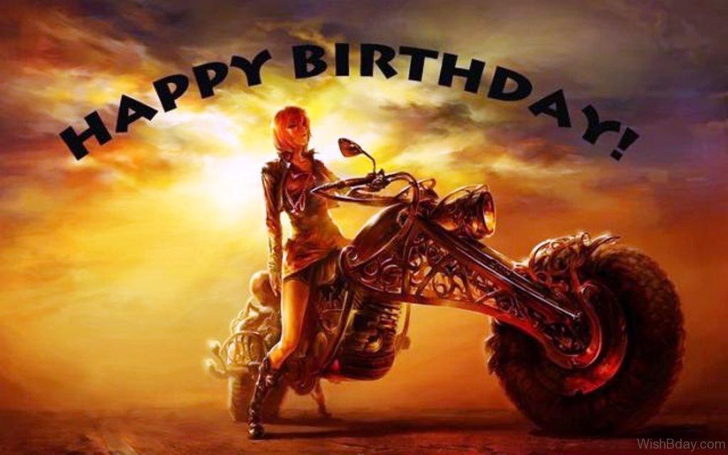 Brand New 18 Biker Birthday Wishes KF58