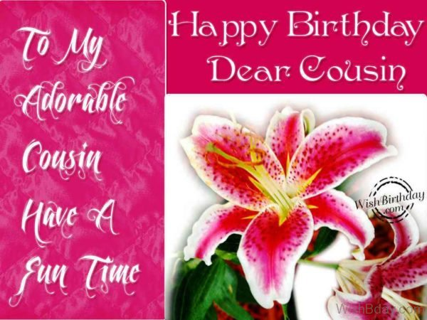 Happy Birthday Dear Cousin