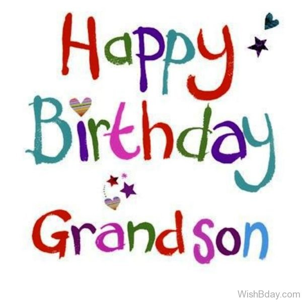 Happy Birthday Dear Grandson