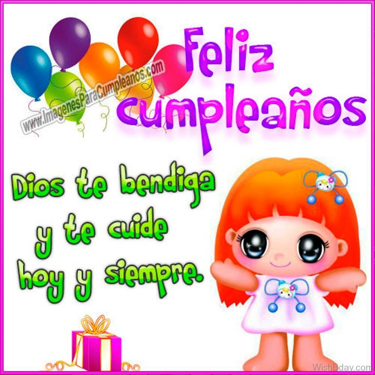 Happy Birthday Dear In Spanish