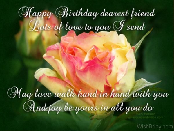 Happy Birthday Dearest Friend