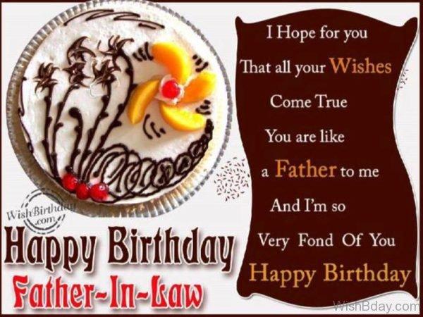 Happy Birthday Father in law Dear
