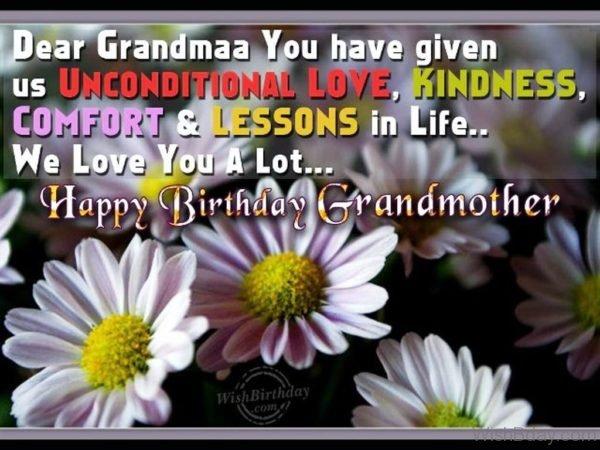 Happy Birthday Loving Grandmother
