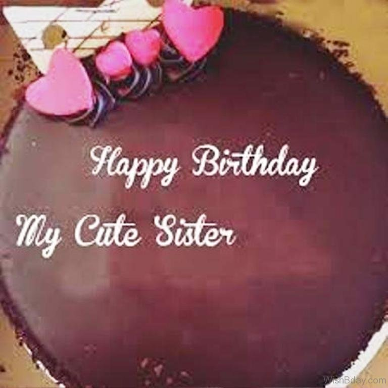 Happy Birthday Little Sister Cake Images Wallpapersimages