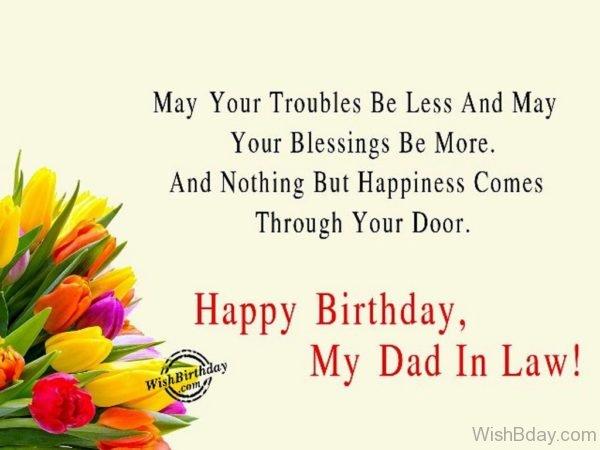 Happy Birthday My Dad In Law